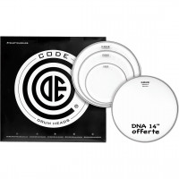 """CODE GENERATOR PACK 4PCS 10""""/12""""/16""""CLEAR +DNA14""""COATED"""