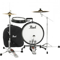 "PEARL COMPACT TRAVELER 18""/2PCS BLACK +HOUSSE"