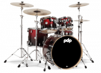 PDP CONCEPT MAPLE CM5 FUSION20 RED TO BLACK SPARKLE FADE