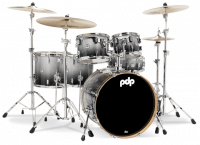 PDP CONCEPT MAPLE CM6 STUDIO22 SILVER TO BLACK SPARKLE FADE