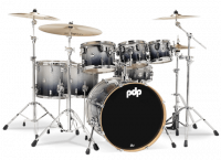 PDP CONCEPT MAPLE CM7 STUDIO22 SILVER TO BLACK SPARKLE FADE