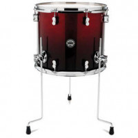 PDP CONCEPT MAPLE 16X14 FLOOR TOM RED TO BLACK SPARKLE FADE