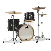 PDP CONCEPT CLASSIC 18 EBONY STAIN WITH EBONY HOOPS