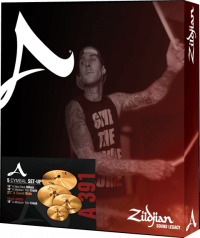 PACK ZILDJIAN A SERIE (H14/C16/R21) + CRASH 18