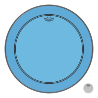 REMO POWERSTROKE III 20 COLORTONE BLUE - GROSSE CAISSE