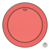 REMO POWERSTROKE III 20 COLORTONE RED - GROSSE CAISSE
