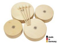 ROHEMA 61598 SET 4 TOMS BOIS NATUREL