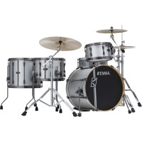 "TAMA SUPERSTAR HYPER-DRIVE DUO 20""/4PCS SATIN SILVER VERTICAL STRIPES"