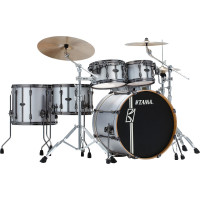 "TAMA SUPERSTAR HYPER-DRIVE DUO 22""/5PCS SATIN SILVER VERTICAL STRIPES"