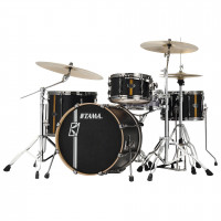 "TAMA SUPERSTAR HYPER-DRIVE DUO 20""/4PCS FLAT BLACK VERTICAL STRIPES"
