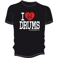 T-SHIRT BAGUETTERIE I LOVE DRUMS