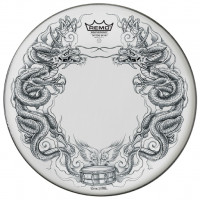 "REMO SUEDE 14"" TATTOO SKYN - DRAGON"