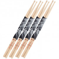 PACK VIC FIRTH 5A AMERICAN CLASSIC HICKORY (4 PAIRES)