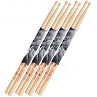 PACK VIC FIRTH 5B AMERICAN CLASSIC HICKORY (4 PAIRES)