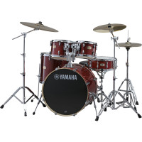 YAMAHA STAGE CUSTOM BIRCH FUSION20 5FUTS CRANBERRY RED +PACK HW780