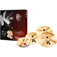 PACK ZILDJIAN K CUSTOM DARK (H14/C16/R20) + CRASH 18